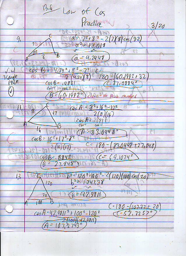 File:13.6 Law of Cosines Practice Page 1.JPG
