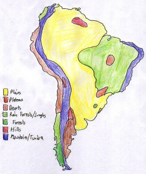 World Cultures PortfolioLatin America ThePlazcom - Argentina landforms map
